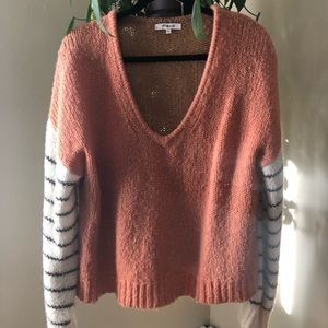 Madewell Balloon-Sleeve Striped Sweater